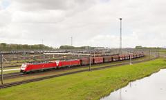 DB Cargo 189 071 + 189 080 - Kijfhoek (rvdbreevaart) Tags: dbcargo br189 siemens es64f4 kolentrein dubbeltractie kijfhoek betuweroute locomotief trein zug eisenbahn railway ferrovie nikon d3300 raw