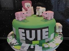 Minecraft cake (Victorious_Sponge) Tags: minecraft pigs birthday cake