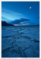 Badwater Blues (Tuan A. Le) Tags: blue moon night salt basin badwater deathvalleynationalpark