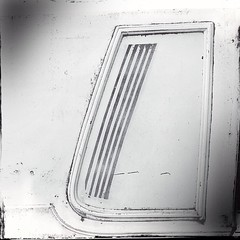 """#window #detail #abstraction #pdxcars #parkedinportland • <a style=""""font-size:0.8em;"""" href=""""https://www.flickr.com/photos/61640076@N04/8781256687/"""" target=""""_blank"""">View on Flickr</a>"""