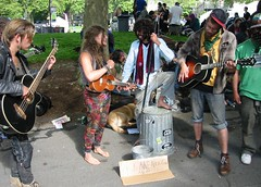 Garbage Can Bass (jiff89) Tags: seattle music festival garbage northwest bass center can buskers may24 busker friday folklife 2013