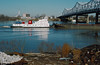 88a006: Paul G. Blazer approaching JFK Bridge (Bill Alden) Tags: usa river unitedstates kentucky louisville ohioriver towboat towboats kennedybridge paulgblazer