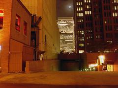 An Old View (phillytrax) Tags: city urban usa moon tower philadelphia night america unitedstates pennsylvania centercity pa philly cherrystreet cityofbrotherlylove bellatlantic cloudynight downtownphiladelphia 1700marketstreet verizontower downtownphilly threelogansquare