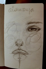 IMG_1969 (aishwarya811) Tags: girls cute art love moleskine lines pencil paper sketch words artwork eyes faces pages drawing arts bored drawings sketchbook lips line doodle talent ash try sketches emotions feelings mediocre