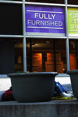 Fully Furnished (Dan Constien) Tags: street sleeping urban socks wisconsin canon walking rebel walk urbanoutfitters homeless madison t3 planter wi madtown madisonwisconsin walkingaround fullyfurnished canoneosrebelt3