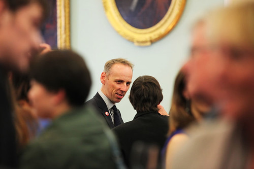 Ewen Bremner attending a drinks reception at Surgeons Hall