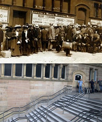 Lime Street Station, 1911 and 2013 (Keithjones84) Tags: liverpool merseyside oldliverpool thenandnow rephotography