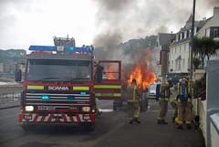 (Zak355) Tags: fire fireengine damaged destroyed scania firebrigade fordtransit rothesay isleofbute lutonvan