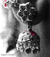 Orecchino.. (Sugan Raj) Tags: woman color girl closeup lady nikon indian ring diamond ear shutters coolpix sugan selective clickster p510
