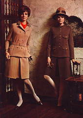 Spiegel 67 fw tan brown suits (jsbuttons) Tags: fashion vintage clothing mod buttons spiegel clothes suit button 1967 catalogs doublebreasted