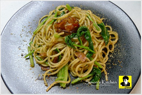 培根炒黑胡椒醬波菜義大利麵09