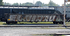 Tint (INTREPID IMAGES) Tags: street railroad color art train bench circle t graffiti fan paint steel painted sony tracks rail railway trains tint tags el images 63 railcar intrepid gondola writer boxcar graff grab freight rolling tinto itd gr8 paintedtrains fr8 benching eltinto intrepidimages