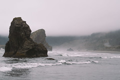 Searching For Wisdom That Every Man Seeks To Find (John Westrock) Tags: oregon coast rocks waves fog highway101 pacificnorthwest pnw scenic scenery landscape nature beach olympusomdem5 olympusmzuikoed45mmf18 johnwestrock microfourthirds