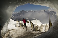Exit to the ice! (raghnallg (225,000+ views).) Tags: landscape lookout day14 tourdemontblanc aiguilledumidi3842m
