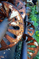 Circular Rust (timmerschester) Tags: plants ontario canada metal spiral rust machine round rockwood mcleans