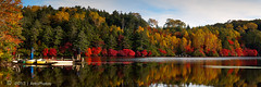 O u r S h o r t H i s t o r y (AnthonyGinmanPhotography) Tags: autumn panorama reflections photographer pano jetty autumncolours 31 naganoprefecture novoflex shirakomaike olympuse620
