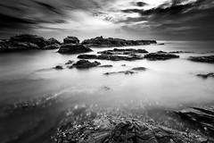 tanjung jara (120 secs) (Mk Azmi) Tags: longexposure sky blackandwhite bw cloud beach nikon images malaysia getty terengganu d800 singhray leefilter tanjungjara reversegnd leebigstopper