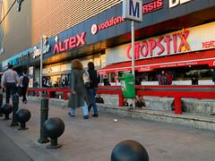 Unirea Shopping Center, Bucharest (Carpathianland) Tags: street people urban architecture pedestrian scene romania pedestrians streetscape passerby bucuresti oameni romnia arhitectura bucureti pietoni arhitectur trecatori passerbies