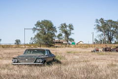 Sunbathing (TheExplorographer.com) Tags: history car zeiss truck vintage route66 automobile theater decay sony historic drivein abandon junkyard lightroom carlzeiss r66 sonnart2470
