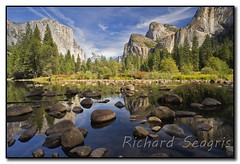 Valley View in Full Color (seagr112) Tags: california unitedstates yosemite threesisters granite yosemitenationalpark elcapitan bridalveilfalls valleyview yosemitevalley mercedriver sentinelrock
