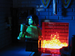 The Wee Hours (cmaddison) Tags: castle night fire lego medieval moonlight cccxi
