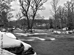 Cold Water (DonMiller_ToGo) Tags: bw newyork waterfalls hdr blackandwhitephotography gf1 hdrphotography
