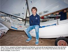 Albert Torres, campeón de España masculino de Optimist