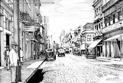 Porto Alegre Cine Coliseu Rua Voluntários da Pátria 1920