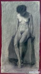 Edmondo Prati Teresita matita su carta 75x40cm  1932