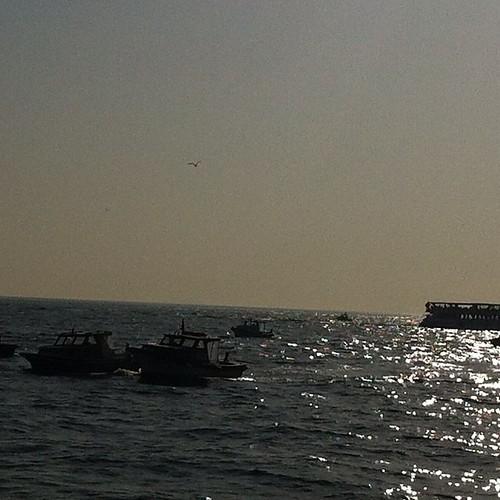 #kadikoy #karakoy vapurundan #istanbul #ve güzel #marmara #deniz #tekne #balikci #eminonu