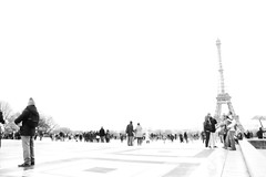 eiffel tower and people