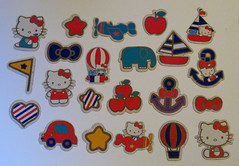 set of 22 Hello Kitty shaped embellishments from the crafting range (Jay Tilston) Tags: hello paper shaped kitty sanrio card embellishments crafting