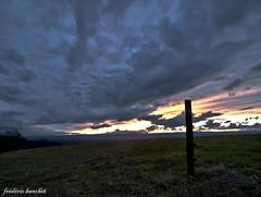 ciel de feu et nuages noirs (frdric banchet photographe) Tags: nature soleil ciel nuage nuages paysage rhonealpes
