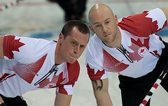 Sochi Ru.Feb16-2014.Winter Olympic Games.Team Canada,second E.Harnden,third Ryan Fry.WCF/CCA/michael burns photo (seasonofchampions) Tags: brad russia jacobs olympics curling sochi teamcanada olympians sochi2014 thirdryanfrywcfccamichaelburnsphoto sochirufeb162014winterolympicgamesteamcanada secondeharnden