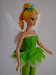 Mattel Tinker Bell Doll (2004) - First Look - Deboxed - Standing - Midrange Left Front View (drj1828) Tags: 2004 standing us doll wand tinkerbell pixie dust purchase mattel posable 11inch deboxed