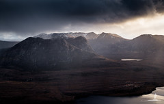Ben More Coigach (Greg Whitton Photography) Tags: sunset cloud mountains landscape scotland highlands mood moody fuji sutherland ullapool assynt benmorecoigach thefiddler