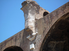 Basilica of Maxentius and Constantine, detail of nave arch fragment