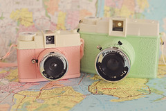 Lomography Cameras (Lucy Djevdet) Tags: camera newyork film brooklyn 35mm toy holga lomo lomography map urbanoutfitters toycamera 120film diana f dreamy filmcamera dianaf dreamer plasticcamera vintagephotography lomographycamera 120camera newyorkmap dianadreamer dianamini lomographydianafcamera uocamera dianaevelyn