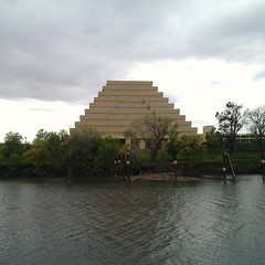 Sacramento (IVWII) Tags: california usa building water america river office pyramid general sacramento department services ziggurat