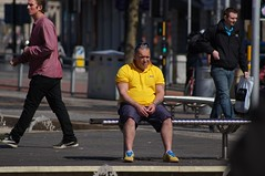 The man in the yellow polo shirt (alsoweirdsid) Tags: man yellow poloshirt