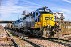 CSX 8335 | EMD SD40-2 | CN Fulton Subdivision (M.J. Scanlon) Tags: csx chessie seaboard memphis tennessee aulon aulonjunction emd midtown cn cnfultonsub canadiannational bnsf bnsfrailway burlingtonnorthernsantafe burlingtonnorthernsantaferailway clinchfield clinchfieldrailroad sd40 rebuilt sd402 csx8335 crr3000 crr csxq535 q535 ncstl ln nashvillechattanoogaandstlouis louisvillenashville unit engine locomotive signal light rail railroad railway train track power horsepower digital freight transportation merchandise commerce business wow haul outdoor outdoors move mover moving southern scanlon canon eos rebel