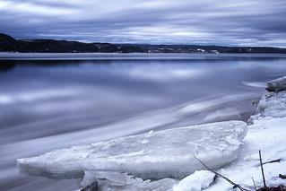 Départ des glaces sur le Saguenay