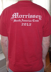 #2070B Morrissey - South America Crew 2012 (Minor Thread) Tags: minorthread tshirtwars tshirt shirt vintage rock concert tour merch punk pop red morrissey moz thesmiths britpop 2012 southamerica southamerican crew