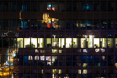 Lyon by night (lyrks63) Tags: lyon lyonbynight night nightscape cityscape city partdieu reflects reflections buildings tower incity oxygene crystalball crystal rhônealpes rhône france photography