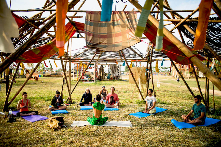 At Wonderfruit festival you can relax with a meditation or yoga session