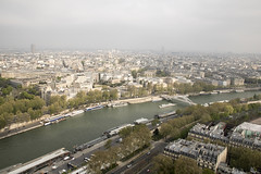 VIEW FROM EIFFEL TOWER (paul jeffrey 1) Tags: eiffeltower france paris riverseine river