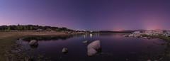 Noche. (Amparo Hervella) Tags: embalsedevalmayor comunidaddemadrid españa spain noche nocturna estrella agua paisaje naturaleza reflejo largaexposición roca d7000 nikon nikond7000 panorámica comunidadespañola