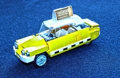 Nightshift (OutBricks) Tags: lego afol 6wide minifigscale taxi cab newyork