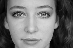 Portrait Sabine (E&T - Photography) Tags: canon eos 1200d 60mm portrait girl beautiful eyes sharp closeup face detail et black white holland netherlands nederland photoshoot woman
