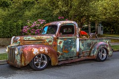 Patina (Paul Rioux) Tags: 2016northwestdeucedays victoria bc carshow showandshine rodrun hotrod streetrod pickup truck customized modified patina rust oxidation oxidized parked weathered prioux ford wheels transportation